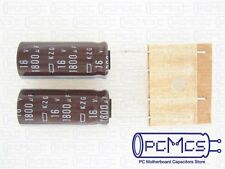 10 Pcs NCC KZG 16V 1800UF Computer motherboard Super low ESR Impedance Capacitor