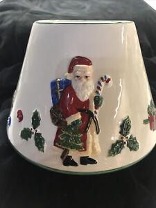 Large Ceramic SANTA Jar Candle Topper