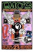 L7 & Crawdaddy 1997 Emo's Houston Anniversary Original Frank Kozik Poster S/N