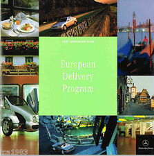 2001 Mercedes-Benz Factory EUROPEAN DELIVERY Program Brochure