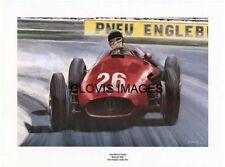 POSTER ARTWORK PRINT / DESSINS F1 J.M. FANGIO MASERATI 250 F 1954 by CLOVIS