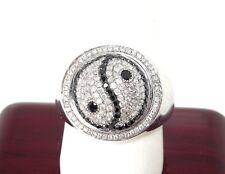 Men's Black/White 1.60 ct  Diamond 14k WG  Yin Yang Ring  * GAL Appraisal