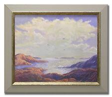 T GÖTESSON / SEASCAPE WITH GULLS - Charming Original Swedish Watercolour