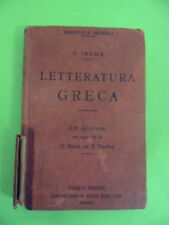 VIGILIO INAMA. LETTERATURA GRECA. MANUALI HOEPLI 1933