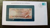 Banknotes of All Nations Turkey P-187b 1983 20 Lirasi UNC Prefix I*