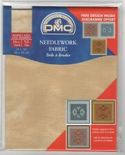 """DC27M 677 Pack of DMC Marble Aida 14ct Sand approx size 35 x 45cm (14 x 18"""")"""