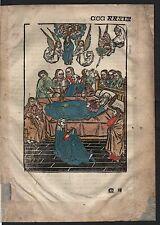 1499 Blatt CCCXXXIX Inkunabel Vita Christi Zwolle Holzschnitt woodcut incunable