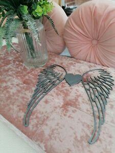 Angel wings heart Wall Art 3d decor memorial Large florest, bouquet