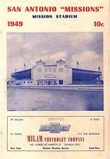 RARE 1949 SAN ANTONIO MISSIONS vs DALLAS EAGLES Baseball Program/Scorecard