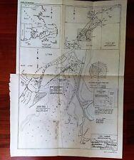 1949 Map Lynn Harbor Mass. Little Nahant Western Channel General Electric Co