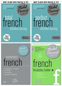 Michel Thomas Total French, Perfect French, Masterclass French & Vocab 22 CDs