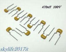 10 pz Condensatore ceramico multistrato MLCC 470nF 100V - condensatori 0,47uF