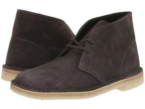 Men's Shoes Clarks Originals DESERT BOOT Suede Chukkas 44232 SLATE GREY