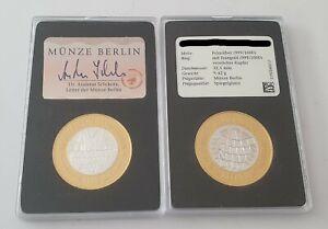 999er FEINSILBER MEDAILLE - Münze Berlin - MONTAGSDEMONSTRATIONEN