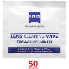 Zeiss Optique 50 Lentille Nettoyage Lingettes Lunettes Téléphone Écran Caméra Ac...