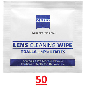 Zeiss Optical 50 Lens Cleaning Wipes Glasses Phone Screen Camera BUY 2 GET 1