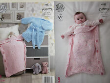 PATTERN ONLY. King Cole pattern 4823. Robe and Sleeping Bag.