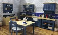 Dolls House Emporium Miniature 1/12th Scale Blue Modern Kitchen Units - Various
