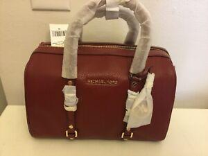 NWT Michael Kors Bedford Legacy Medium Brand Pebbled Leather Duffle Satchel