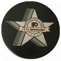 PHILADELPHIA FLYERS RARE 25th ANNIVERSARY NHL OFFICIAL PRO INGLASCO GAME PUCK