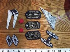 Disney Star Wars Fabric Iron On Appliques style #4 THE FORCE AWAKENS !!!