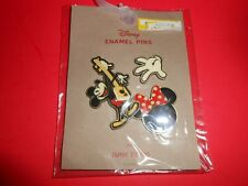 Disney Enameled Pins By Junk Food, Made in China, Mickey Mouse With Guitar, Hand