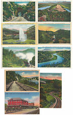 9 Unused Unposted Linen Southern Railways Postcards US - South