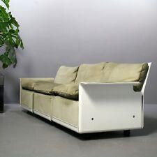 3-Sitzer-Sofa von Dieter Rams für Vitsoe, Sesselprogramm 620 Leder grün Couch