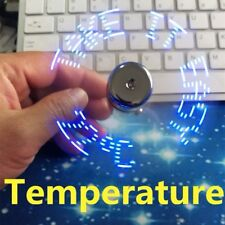 Temperature USB Fan Creative gift with LED New Cool Gadget Temperature Display