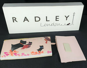 Radley Signature Over the Hills Large Flap Over Matinee Purse & Dust Cover BNWT