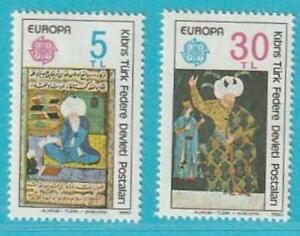 Türkisch Zypern Europa CEPT aus 1980 ** postfrisch MiNr. 83-84 Persönlichkeiten