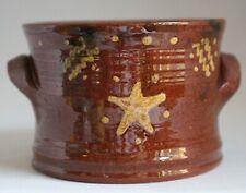 Becky Mummert Redware CROCK Folk Art Pottery East Berlin PA