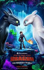 "HOW TO TRAIN YOUR DRAGON HIDDEN WORLD 2019 Advan DS 2 Sided 27X40"" Movie Poster"