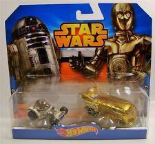 Star Wars Hotwheels --R2D2 & C3PO Cars 2 Pack -- Die Cast, 2014