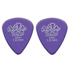Dunlop 4100-R-150 Plettri per chitarra serie Delrin 1.50mm 2 Pezzi