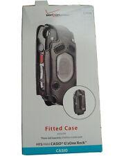 Verizon Black Leather Clip Case for Casio G-Zone Rock Cell Phone