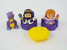 Fisher Price Little People Figures King & Queen Dragon Furniture Lot