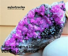 Cobaltoan calcite quartz and heterogenite - Kakanda deposit DRC Congo