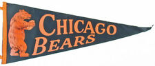 Chicago Bears _ RARE ORIGINAL _ 1940's Felt Pennant vtg NFL Football banner flag