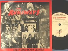 "THE RUNAWAYS Right Now/black Leather 7"" Joan Jett Lita Ford"
