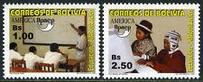 Bolivia 1196-1197, MI 1553-1554, MNH. Education.Students,classroom,computer,2002