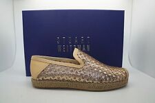 STUART WEITZMAN Sand Mini Glitter THE COUNTY Flat Loafers Shoes Sz 5.5 NIB $335