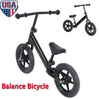 12'' Kids Balance Bike Learn To Ride No-Pedal Bicycle With Adjustable Seat US