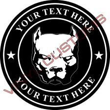 "4"" Your Text Here Vinyl Decal Sticker Pitbull Canario Dog"