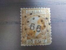 Nederland NVPH 12 Koning Willem III 1867-1868 50 cent goud Gestempeld