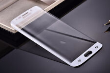 Silver Full Cover Tempered Glass Screen Protector for Samsung Galaxy S7 Edge