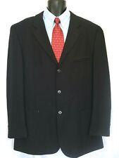 Karl Kani mens black wool blend contemporary blazer jacket sport coat 44L