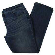 INC Womens Blue Tummy Slimming Medium Wash Straight Leg Jeans Plus 16W BHFO 7359
