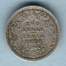 India. 1878 2 Annas..  VF