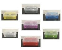 "Super Stacker Crayon Box 4.75"" x 3.5"" x 1.5"" / SET OF 6 (Assorted Colors) NEW"